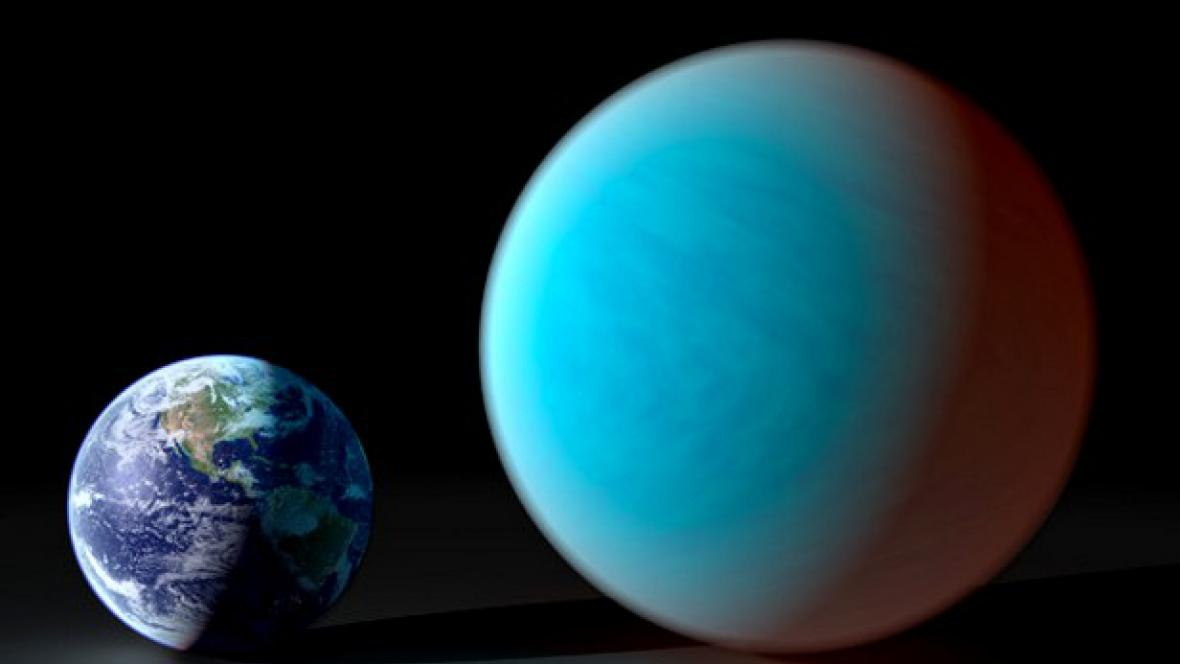 Země a diamantová planeta 55 Cancri e