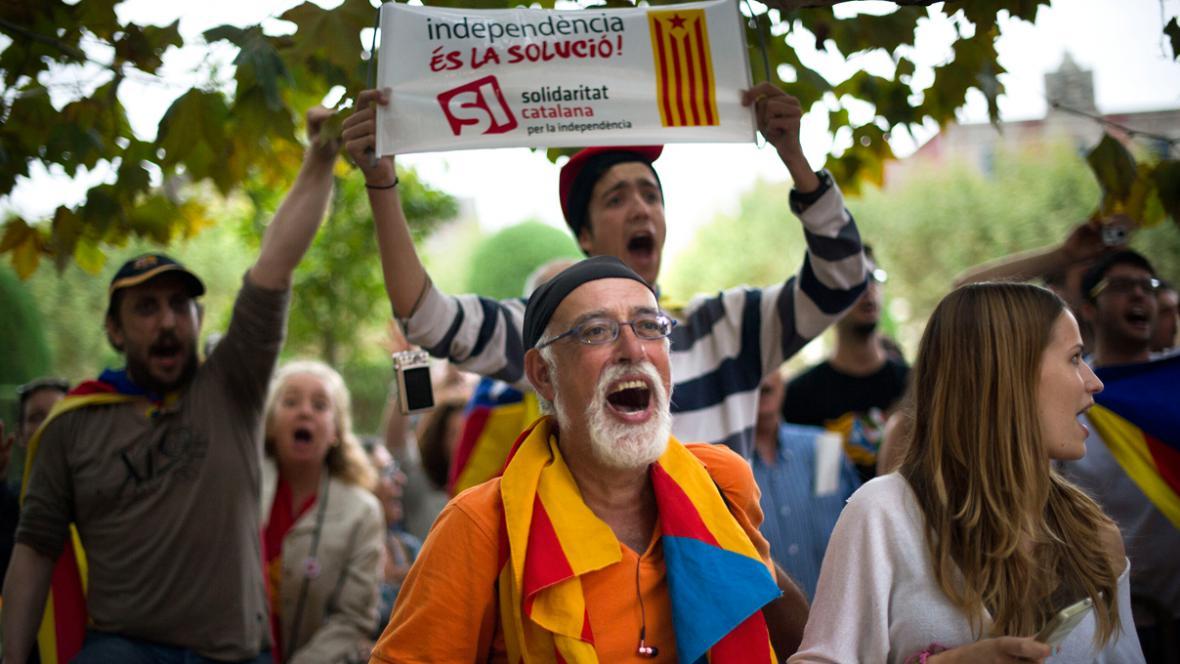 Demonstrace za nezávislost Katalánska