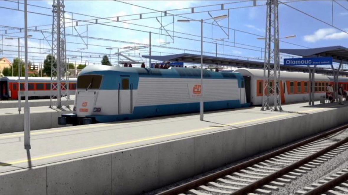 Vizualizace nového olomouckého nádraží