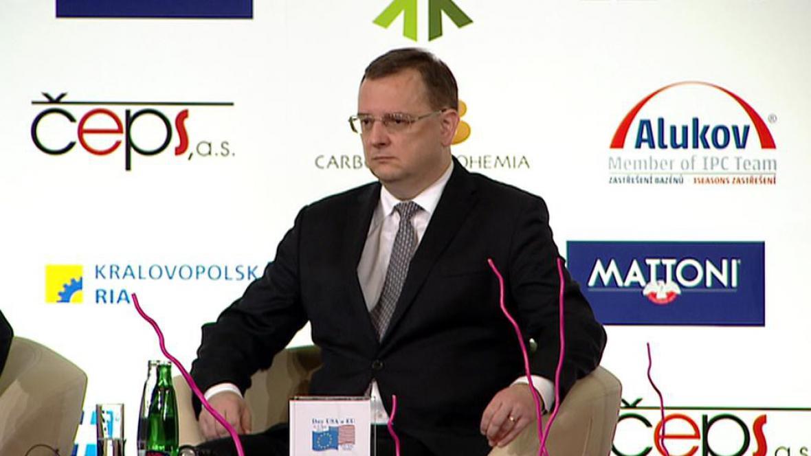 Premiér Petr Nečas na konferenci Dny USA a EU