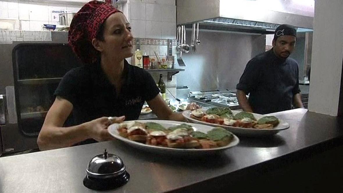 Restaurace ve Florencii nazvaná Sele
