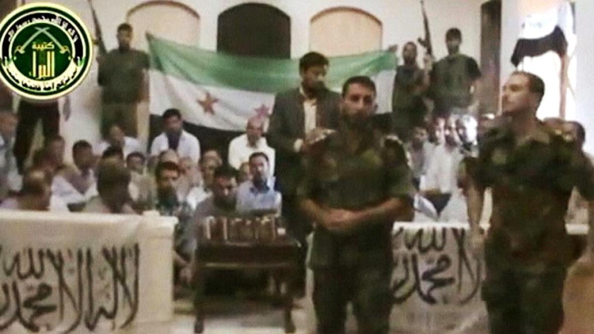 Íránci zajatí syrskými povstalci