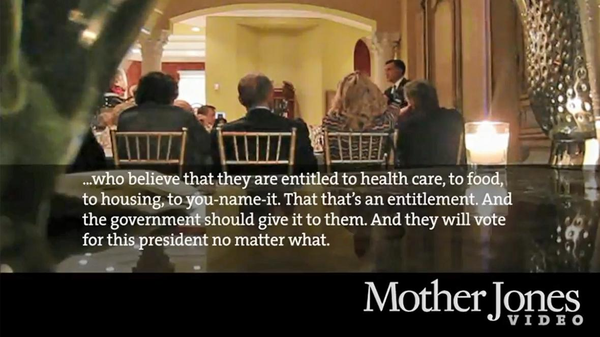 Tajně pořízené video s Mittem Romneym