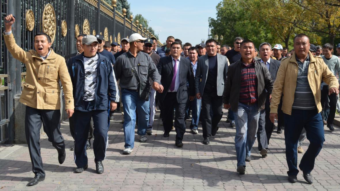 Protesty v Krgyzstánu