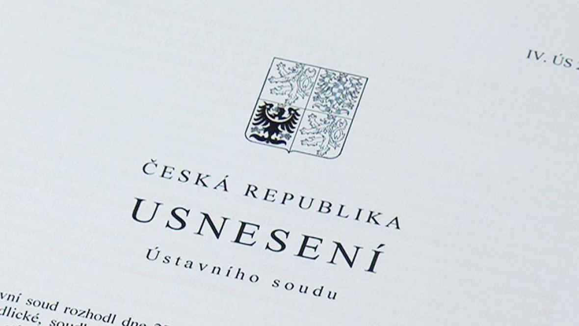 Usnesení Ústavního soudu ČR