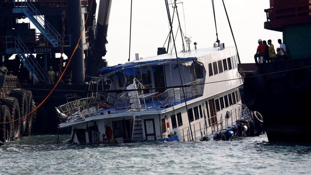 Potopená loď u Hongkongu