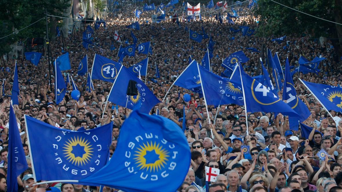 Opoziční demonstrace v Gruzii