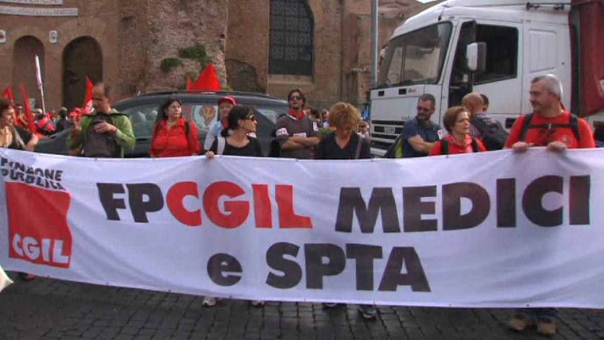 Stávka italských zaměstnanců