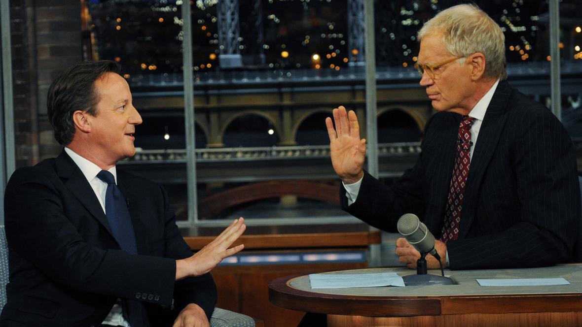 David Cameron u Davida Lettermana