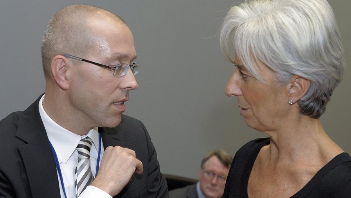 Jörg Asmussen s Christine Lagardeovou