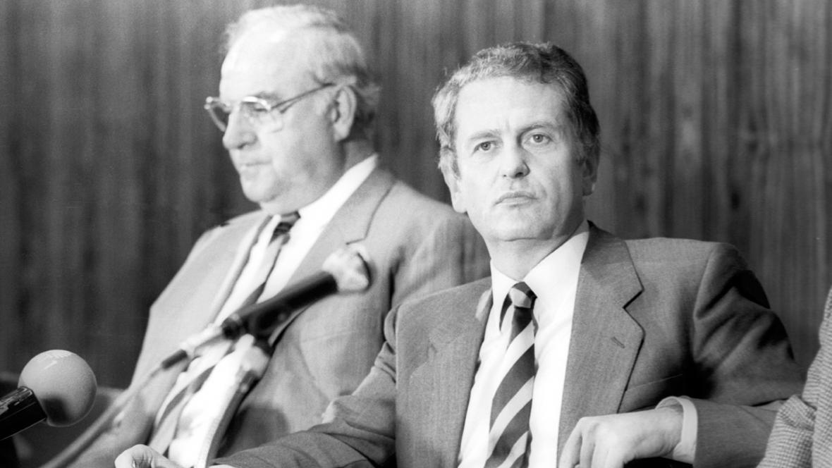 Helmut Kohl a Uwe Barschel