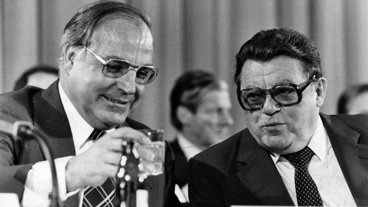 Helmut Kohl a Franz-Josef Strauss