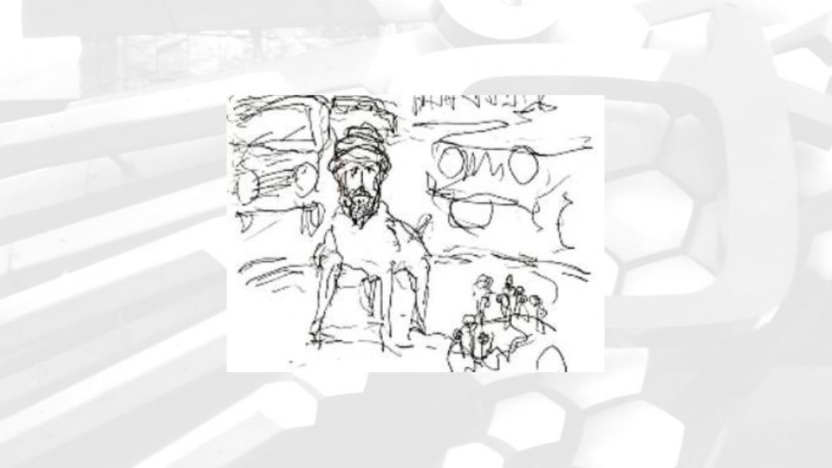 Karikatura znázorňující Mohameda se psím tělem