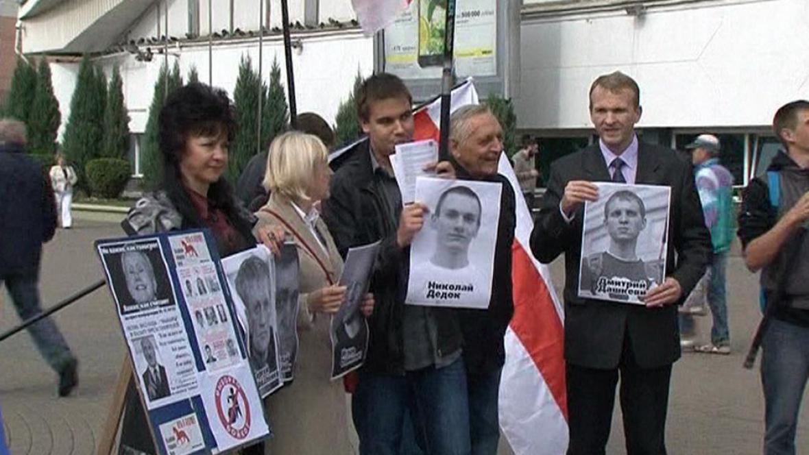 Protest běloruské opozice