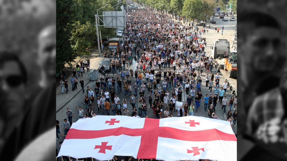 Protesty v Gruziii