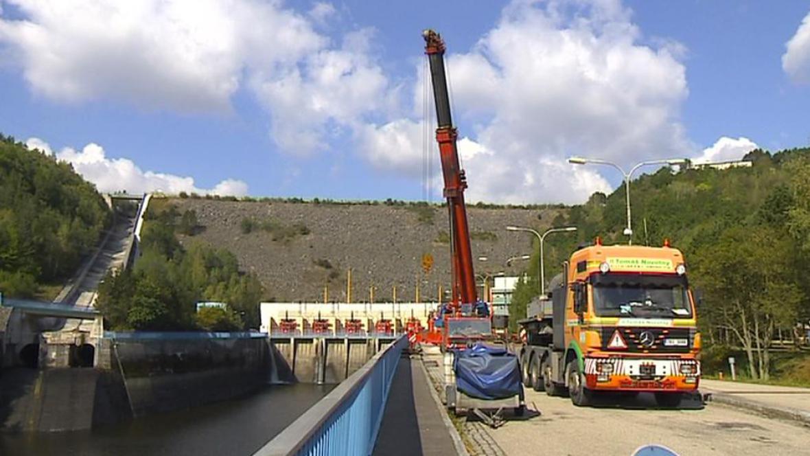 Modernizace přehrady Dalešice