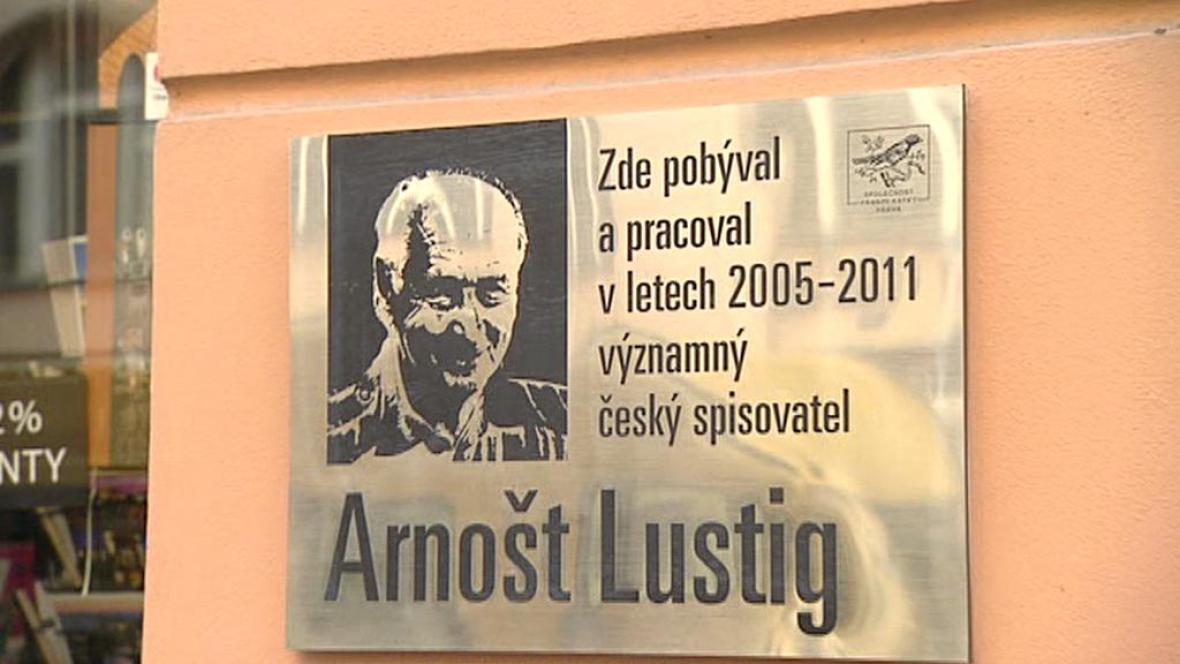 Pamětní deska Arnošta Lustiga