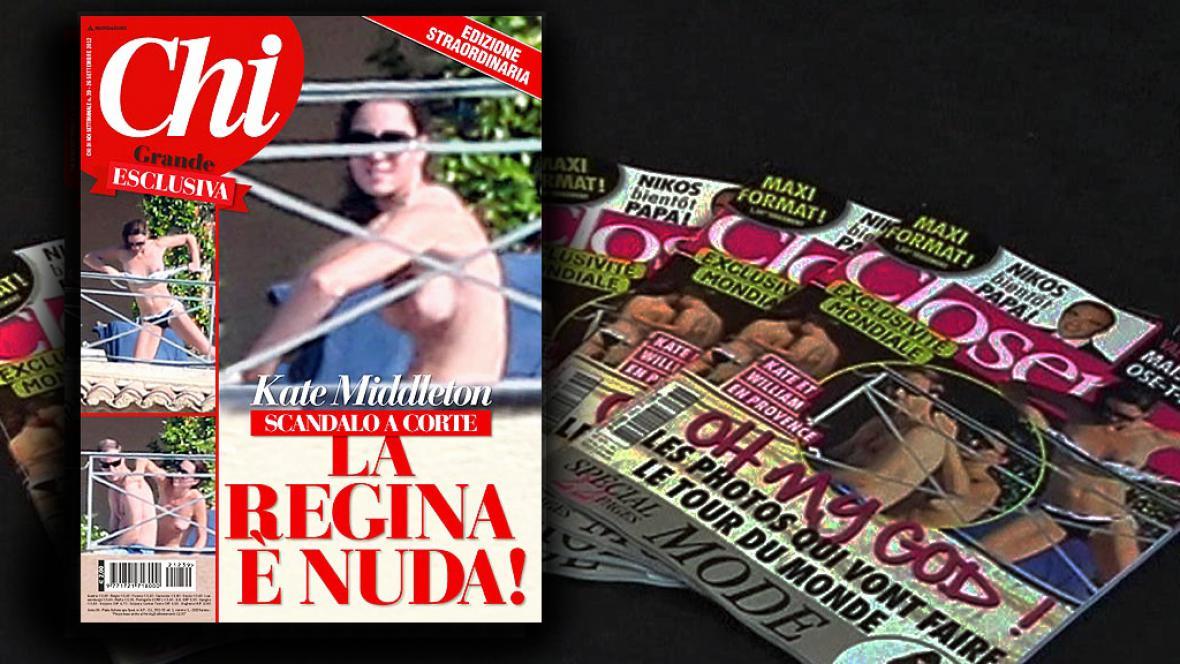 Snímky polonahé Kate zveřejnil i italský magazín Chi