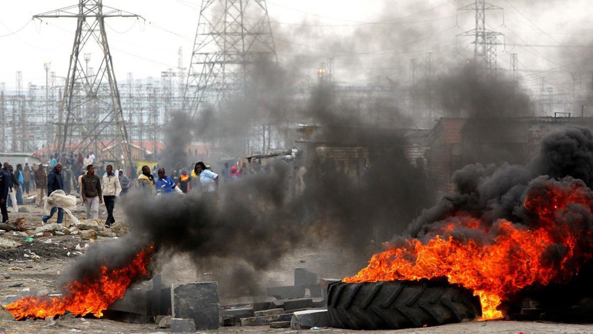 Protesty horníků v JAR