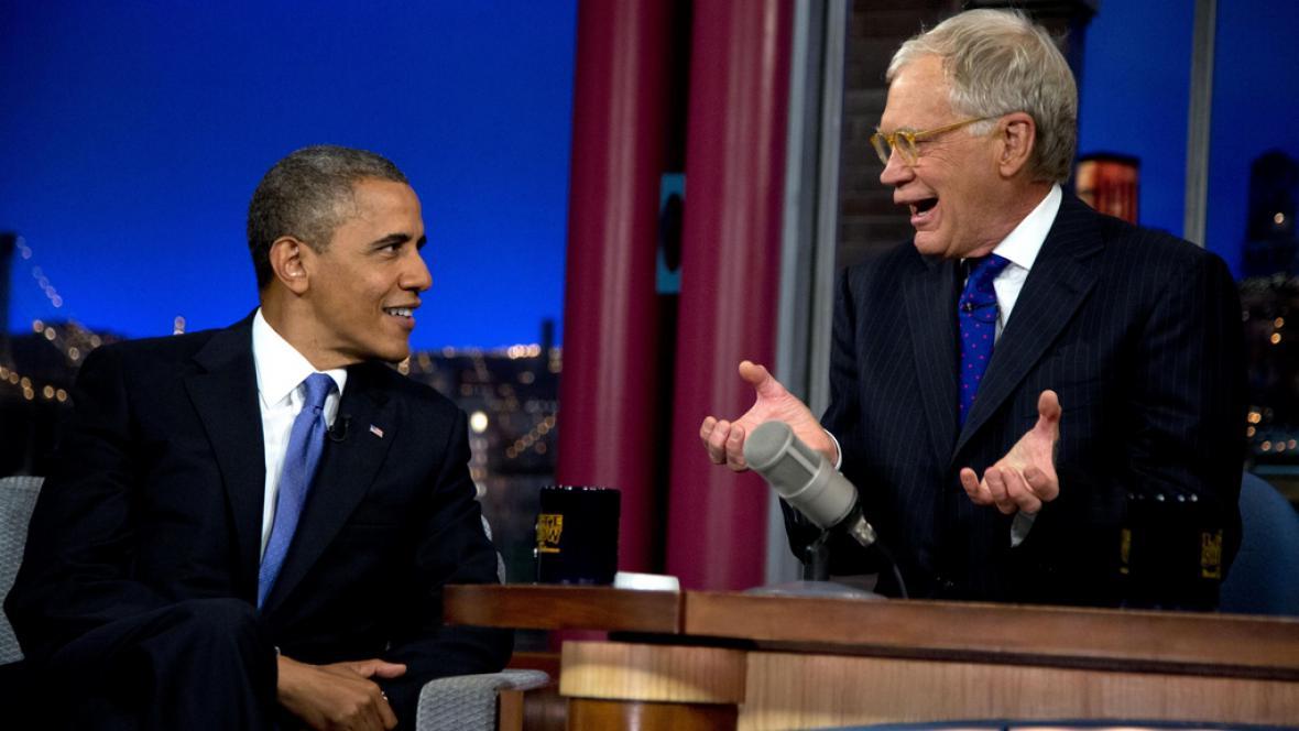 Barack Obama v show Davida Lettermana