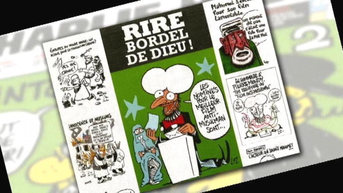 Charlie Hebdo zveřejnil karikatury proroka Mohameda