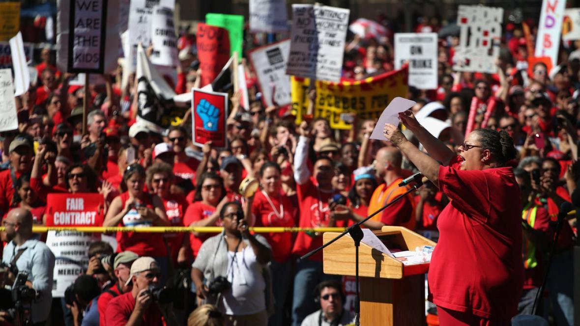 Stávka učitelů v Chicagu