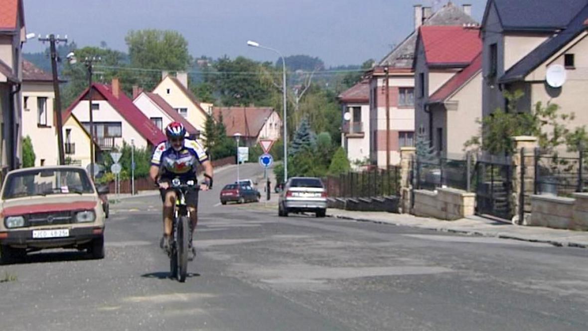 Cyklista v Jičíně