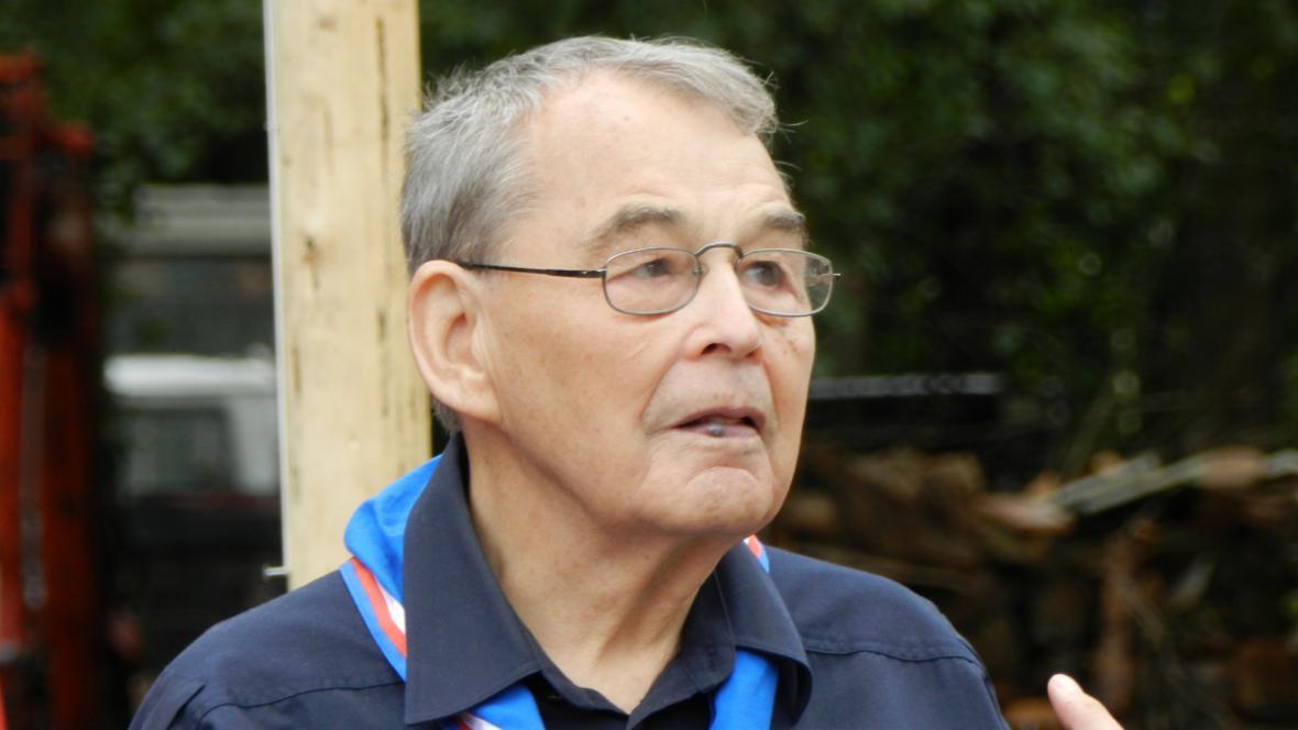Na akci dorazil i skaut Jiří Navrátil, člen Foglarovy Dvojky