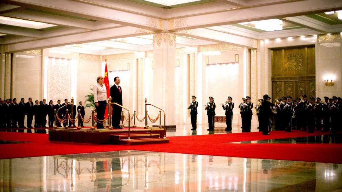 Angela Merkelová na návštěvě Číny