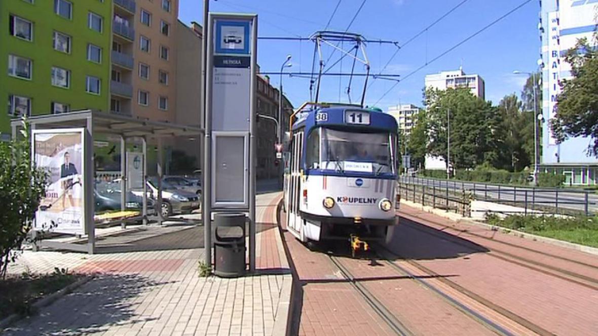Opravená tramvajová trať v Liberci