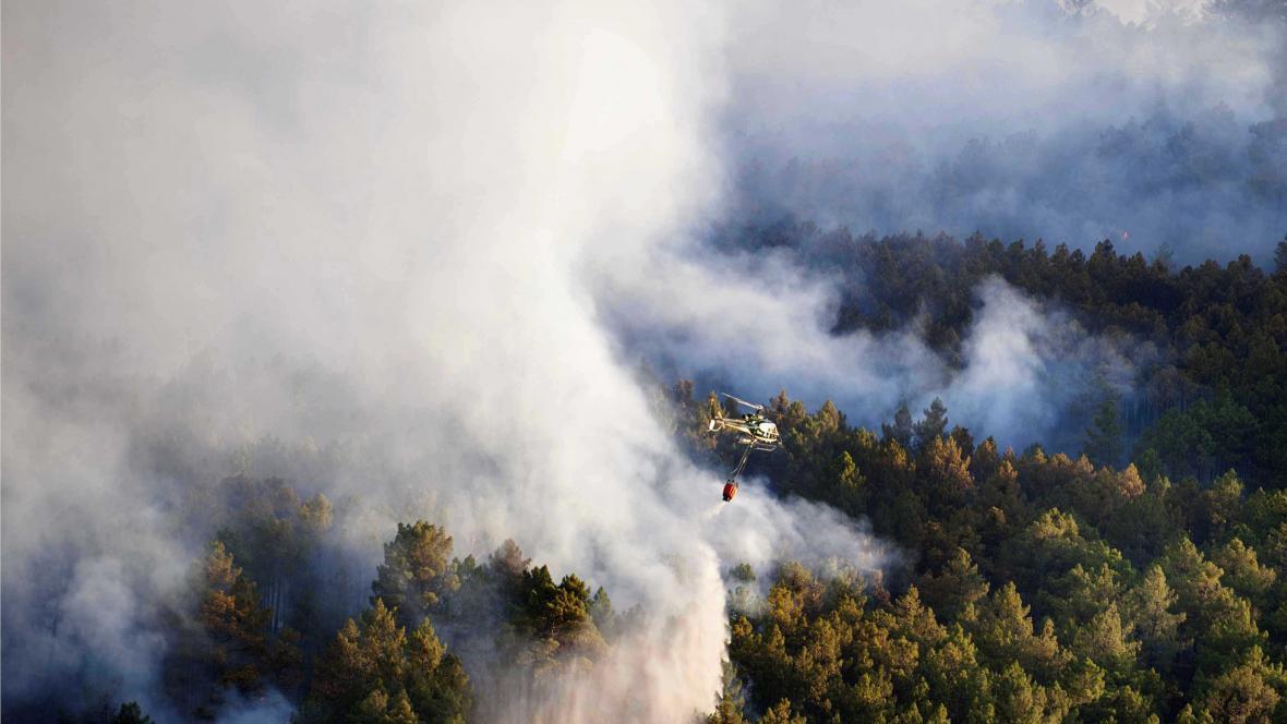 Požár u Madridu