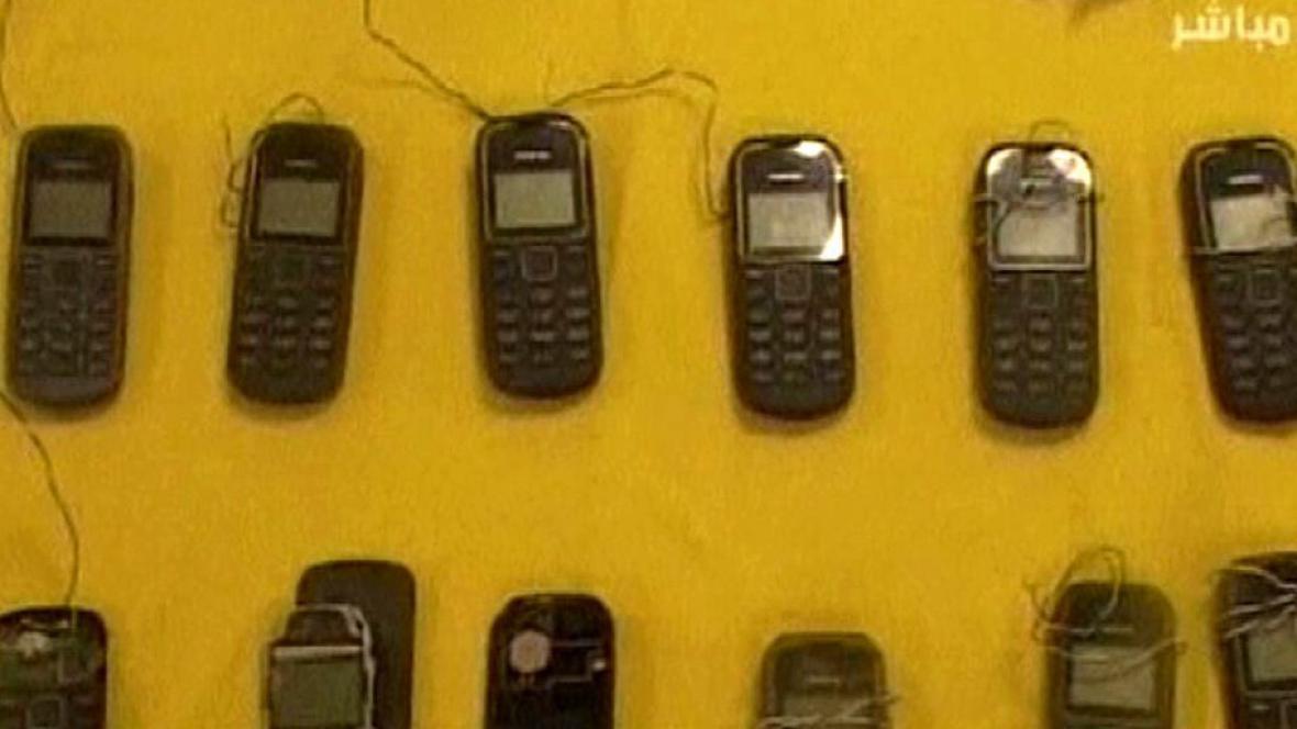 Zabavené mobily jemenských teroristů