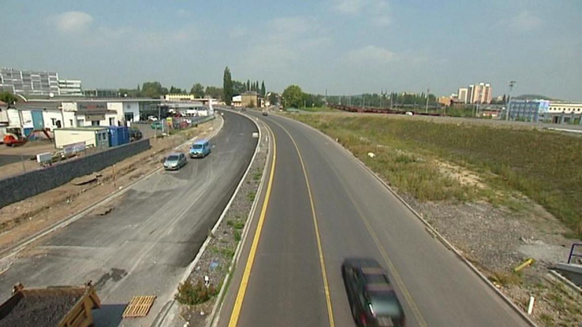 Rozestavěný dálniční přivaděč v Ostravě