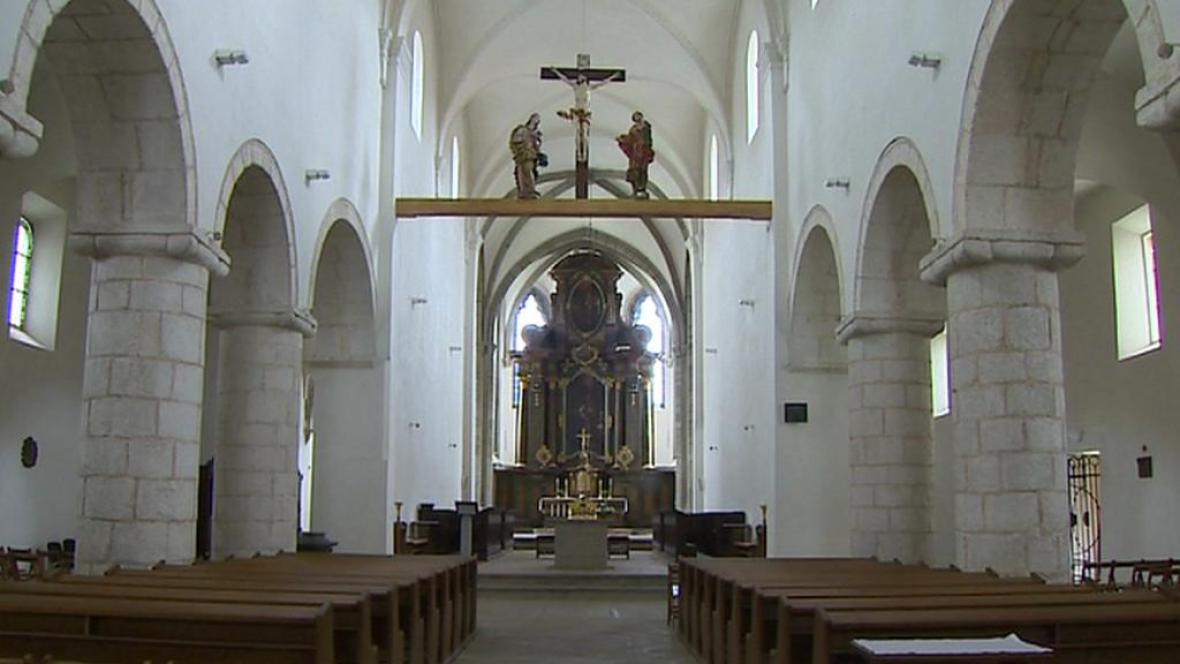 Interiér klášterní kaple v Milevsku