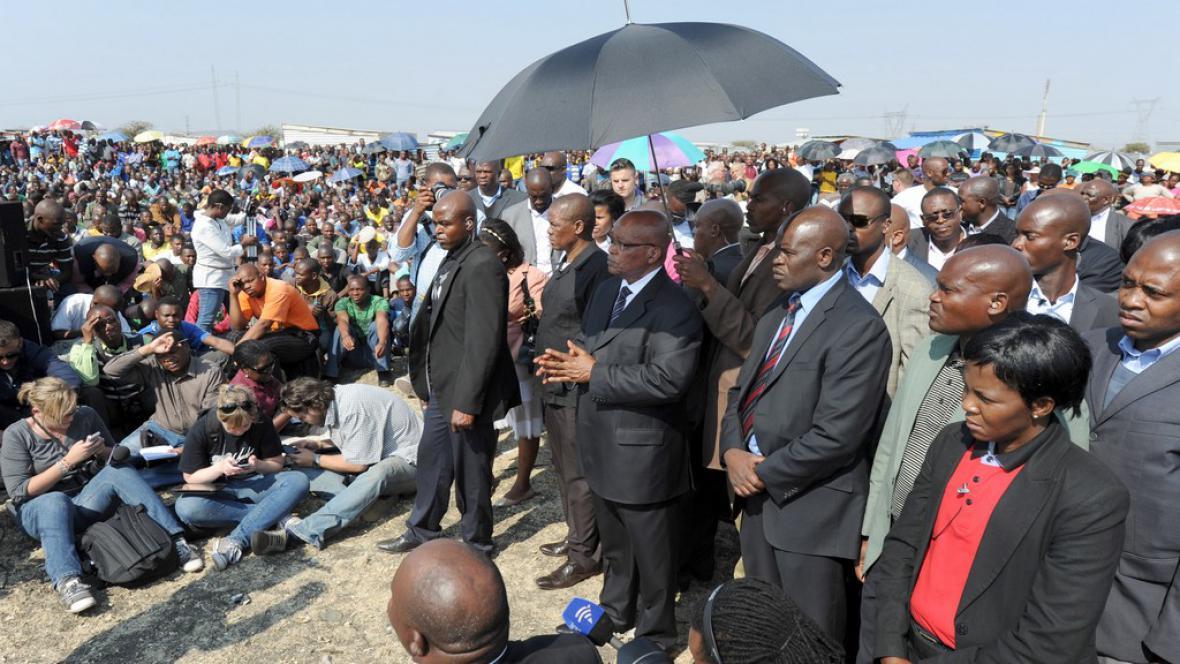 Jihoafrický prezident navštívil Rustenburg