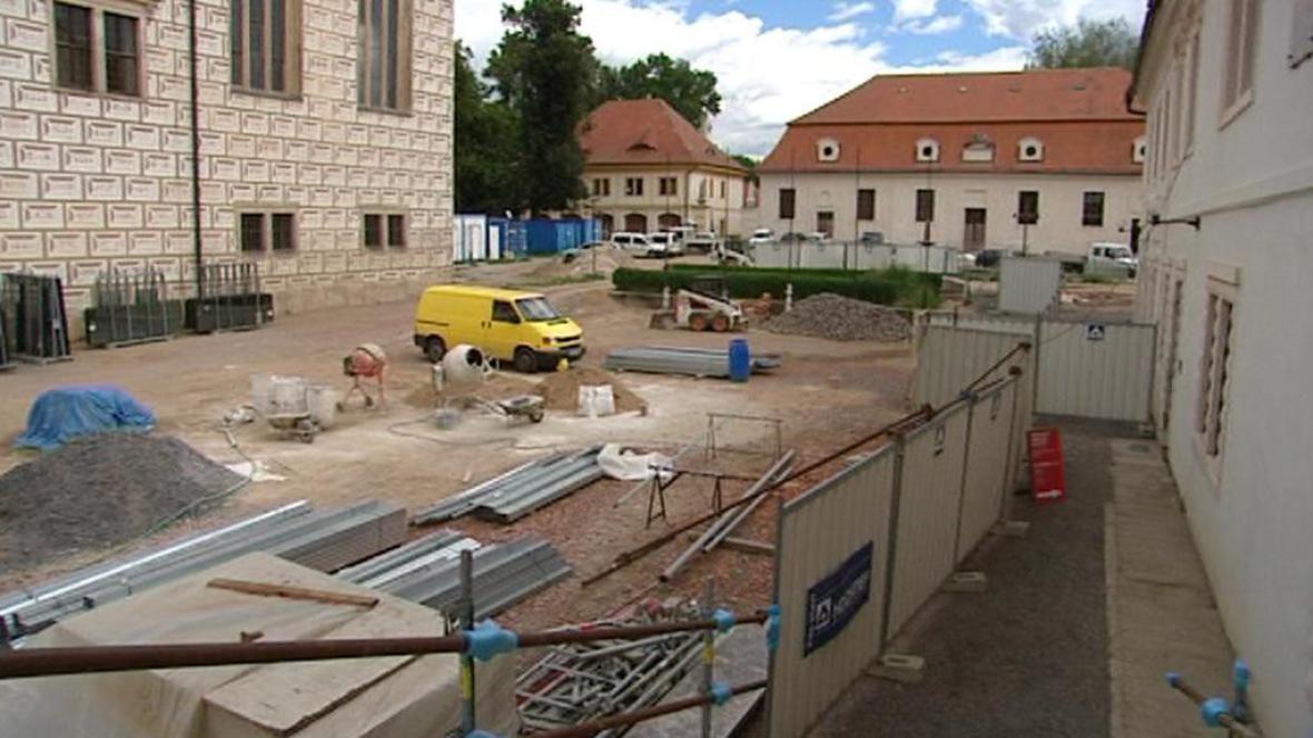 Archeologické práce na zámku v Litomyšli