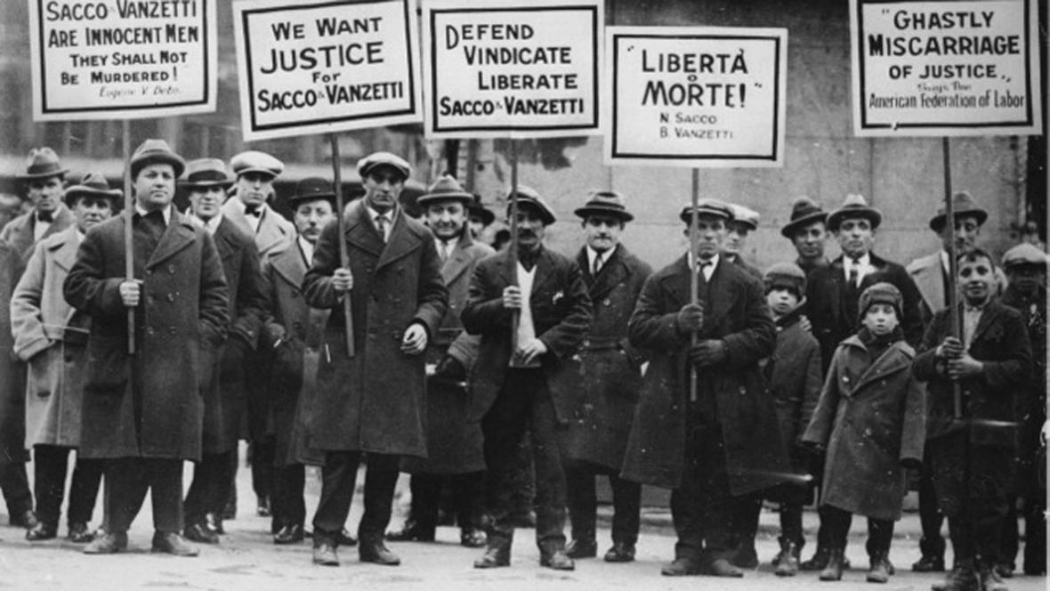 Demonstrace za osvobození Sacca a Vanzettiho