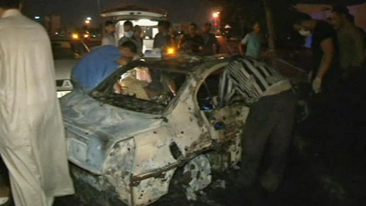 Následky atentátu v Libyi