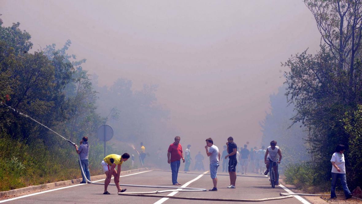 Požáry v Chorvatsku