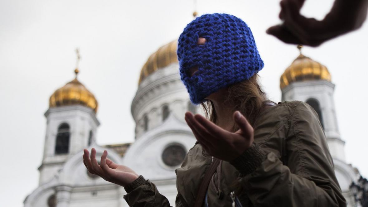 Demonstrace na podporu Pussy Riot