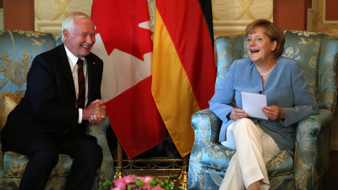 Angela Merkelová v Kanadě