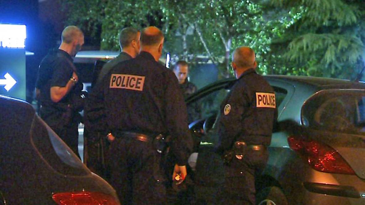 Francouzská policie v Amiens