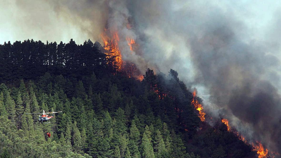 Požár na Tenerife