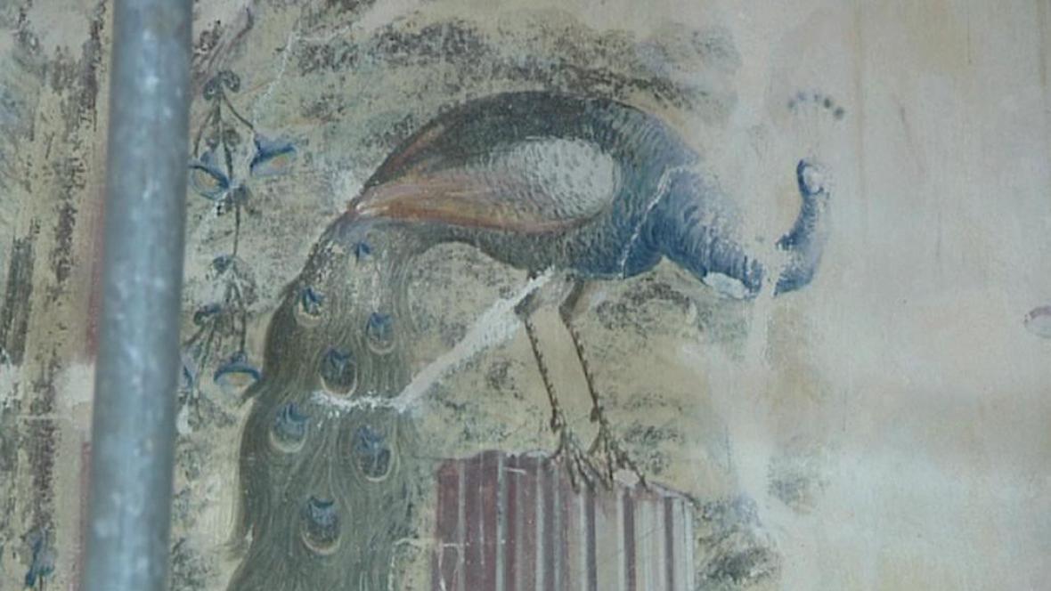 Nástěnné malby Antonína Tuvory na zámku v Nebílovech