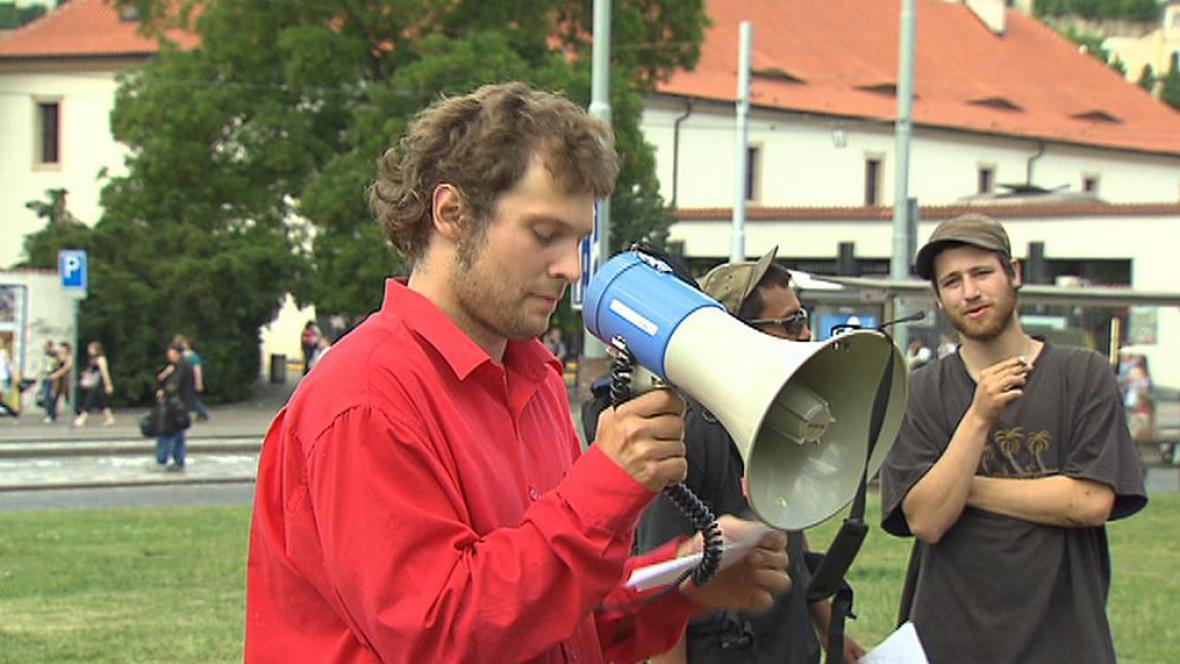 Aktivisté z hnutí Occupy