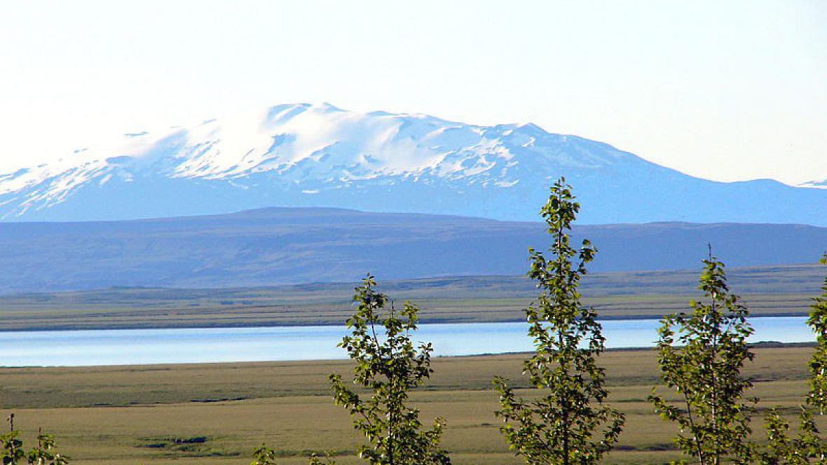 Islandský vulkán Hekla