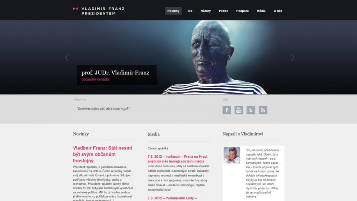 Volební stránky Vladimíra Franze