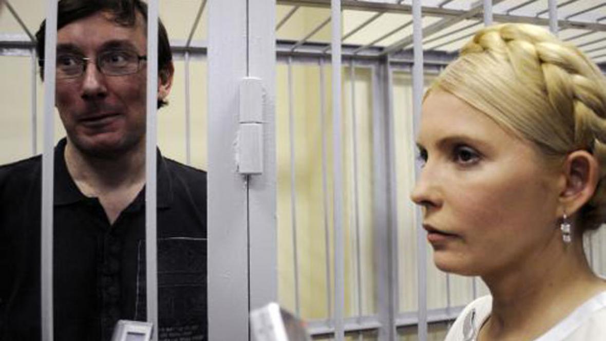 Julija Tymošenková a Jurij Lucenko