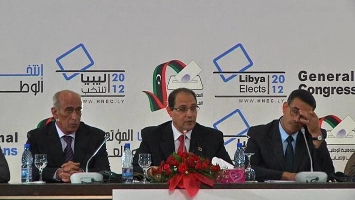 Vyhlášení výsledků libyjských voleb