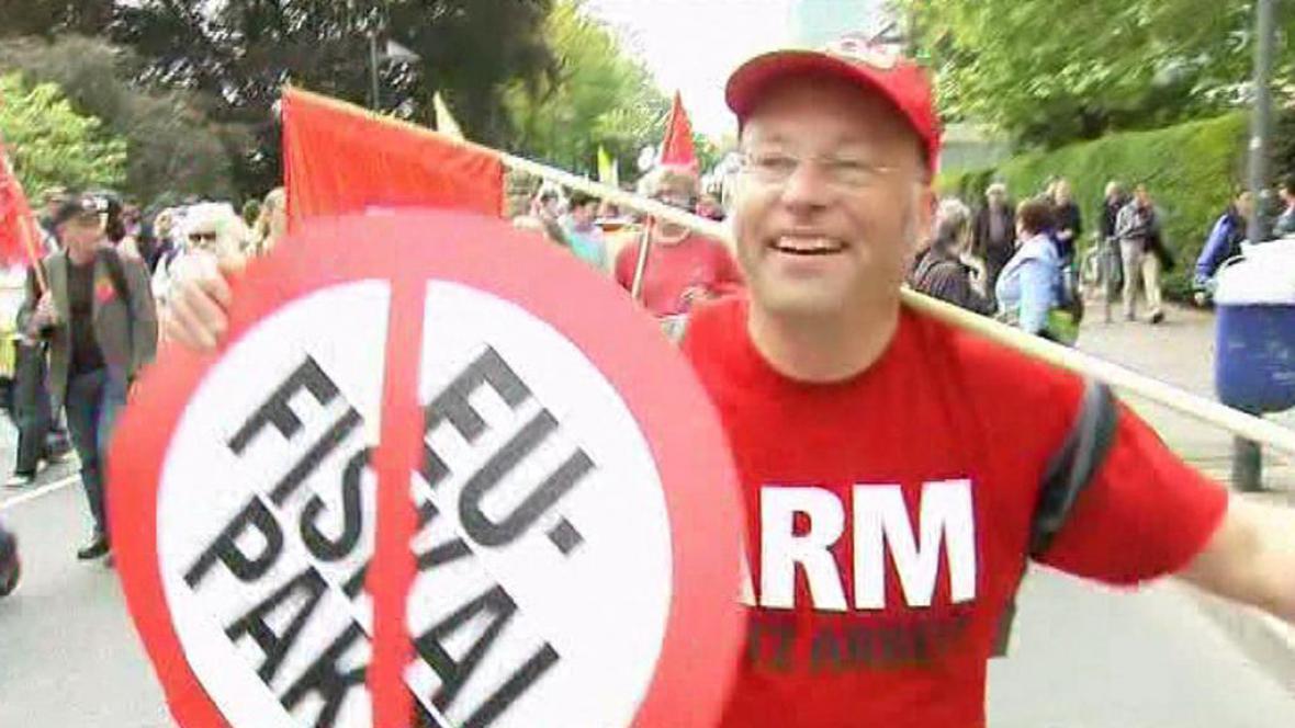 Protesty ve Frankfurtu